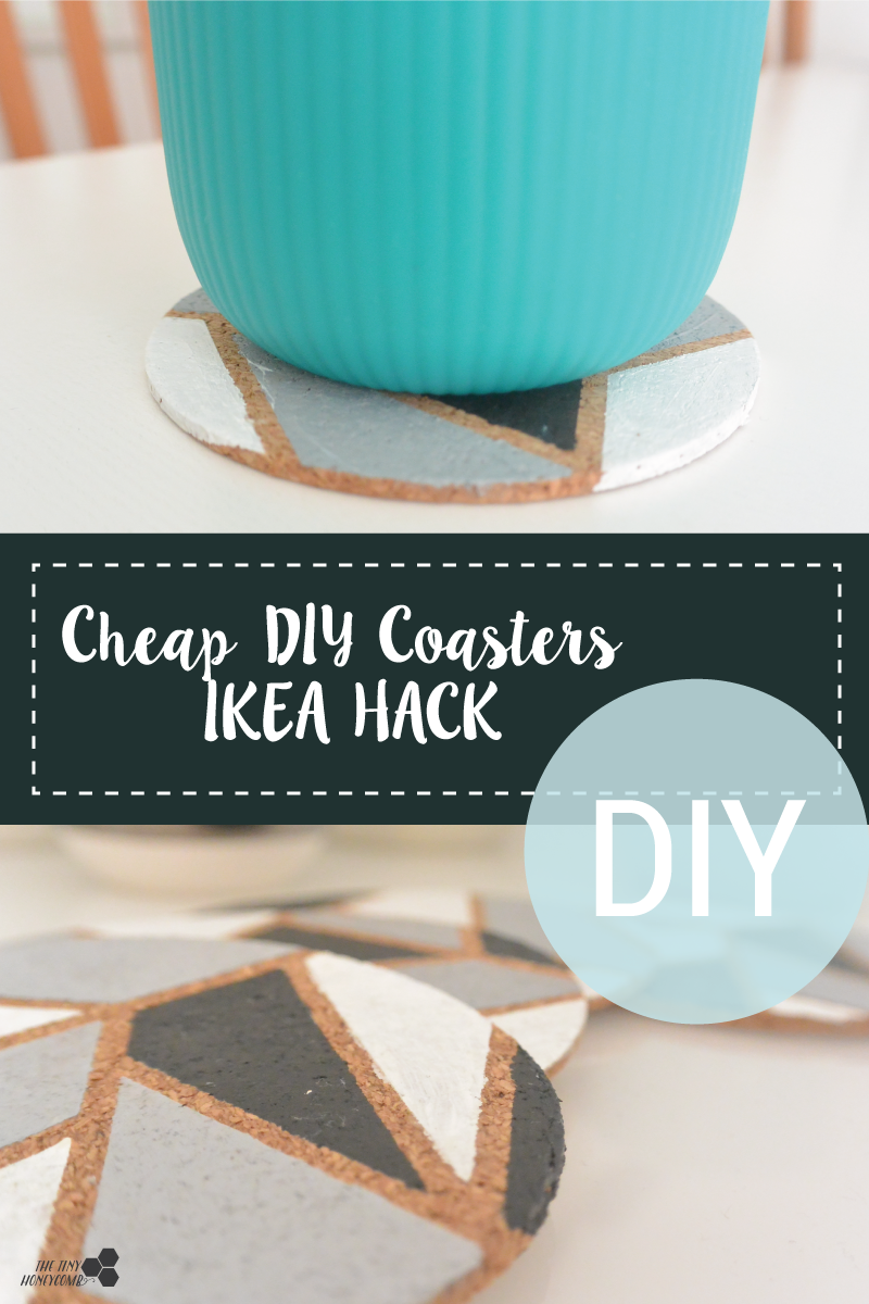 How to easily make cheap geometric coasters - IKEA hack