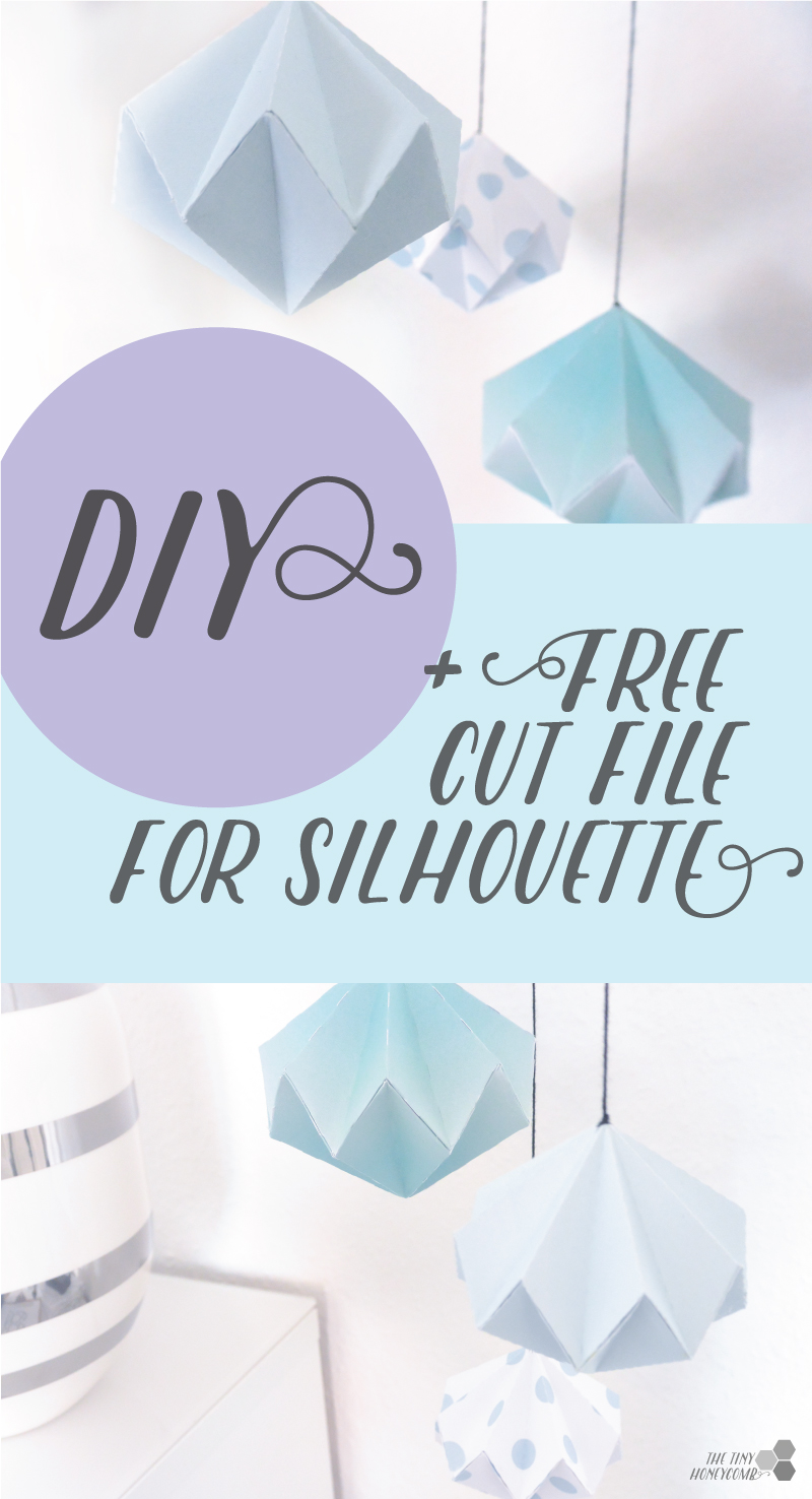 DIY paper diamond with free cut file for the sihouette. Thetinyhoneycomb.com