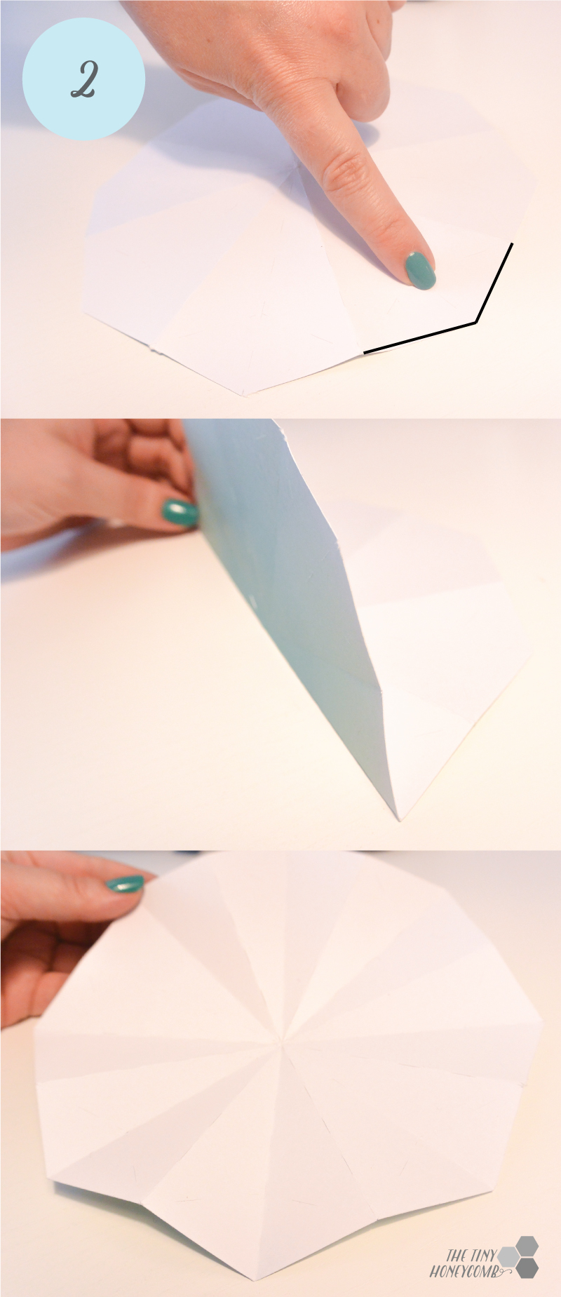 DIY origami diamonds