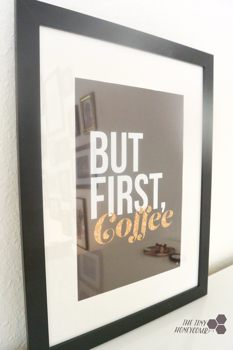 but first coffee print a3