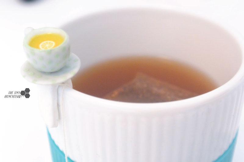 Cute tea bag holder DIY with a miniature porcelain cup