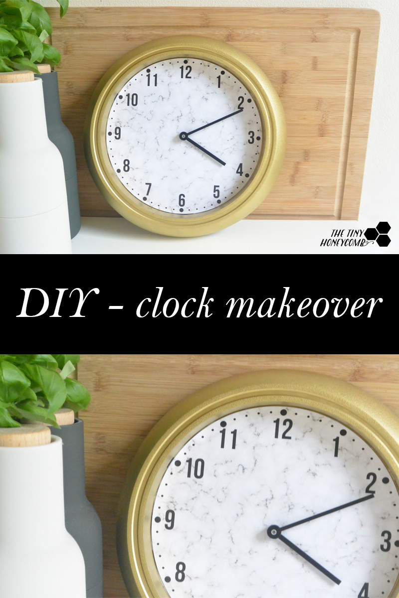 DIY clock makeover. DIY Clock Tutorial. The tiny honeycomb blog
