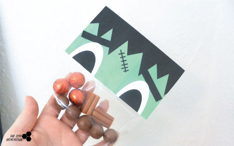 Frankensteins monster. Free printable. Candy wrapper. The tinyhoneycomb blog