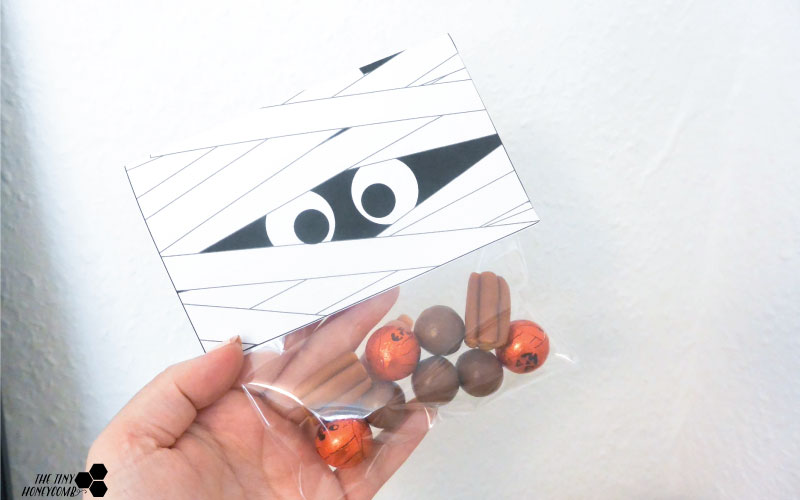 Mummy Candy wrapper. Free printable. The tiny honeycomb blog