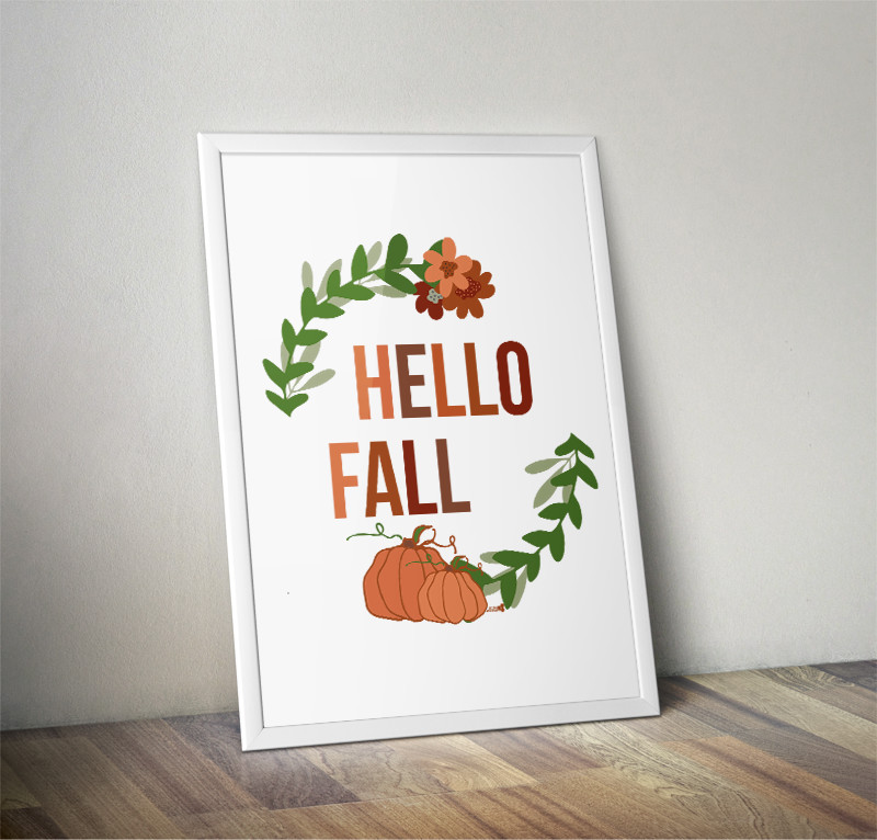 hello fall printable free. the tiny honeycomb blog