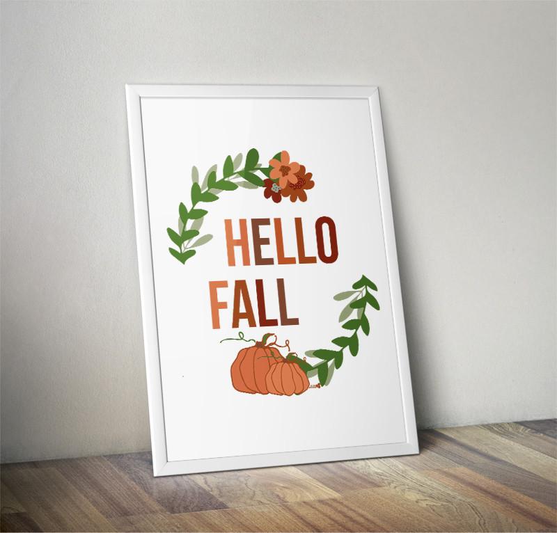 hello fall printable free. the tiny honeycomb blog