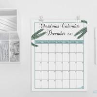 Christmas planner. Free December calendar 2015.