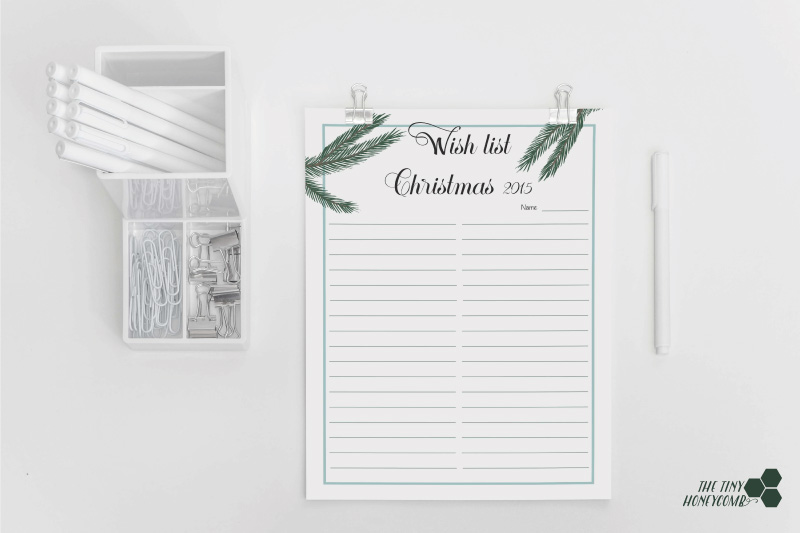 Christmas planner. Free printables. Wish list 2015