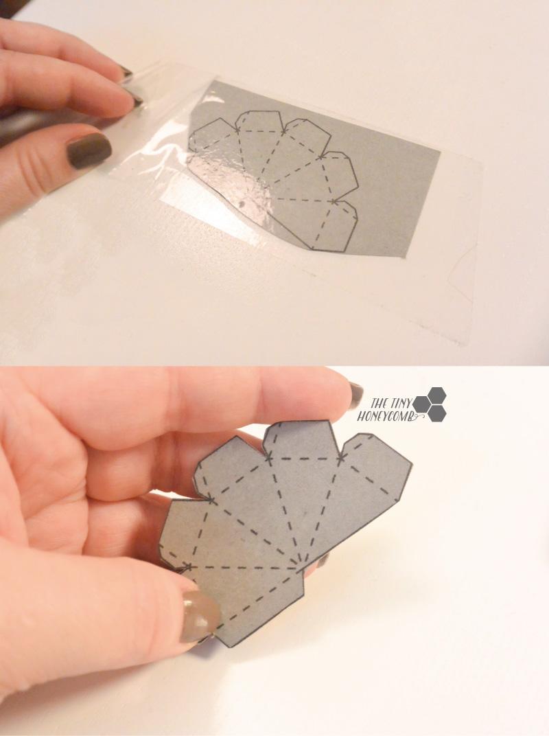 DIY diamond. Diamond template. folding and cutting