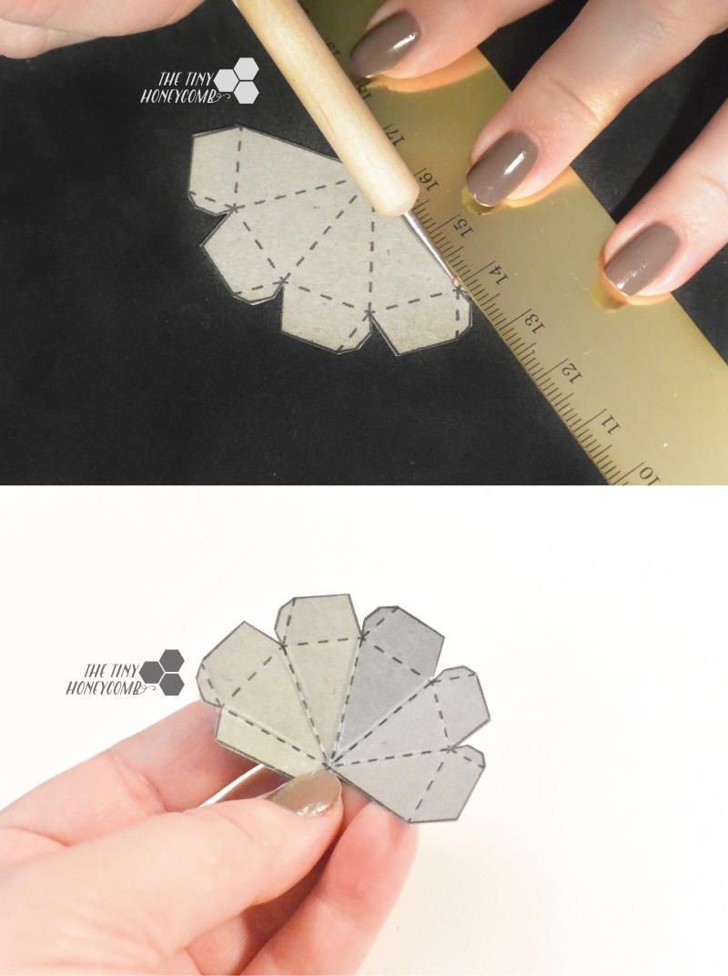 Score the diamond template