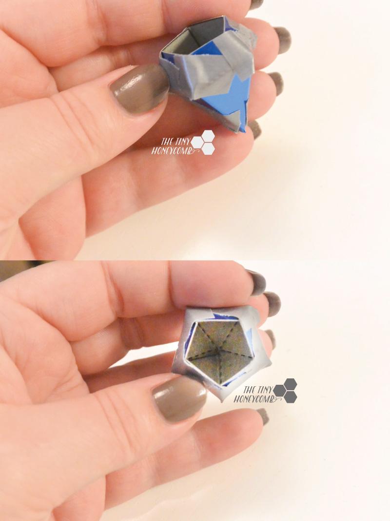 Folded diamond template