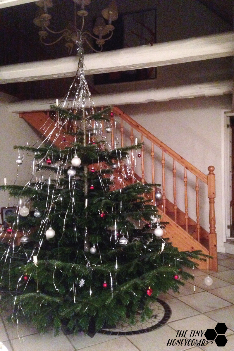 The Christmas tree at my dads house