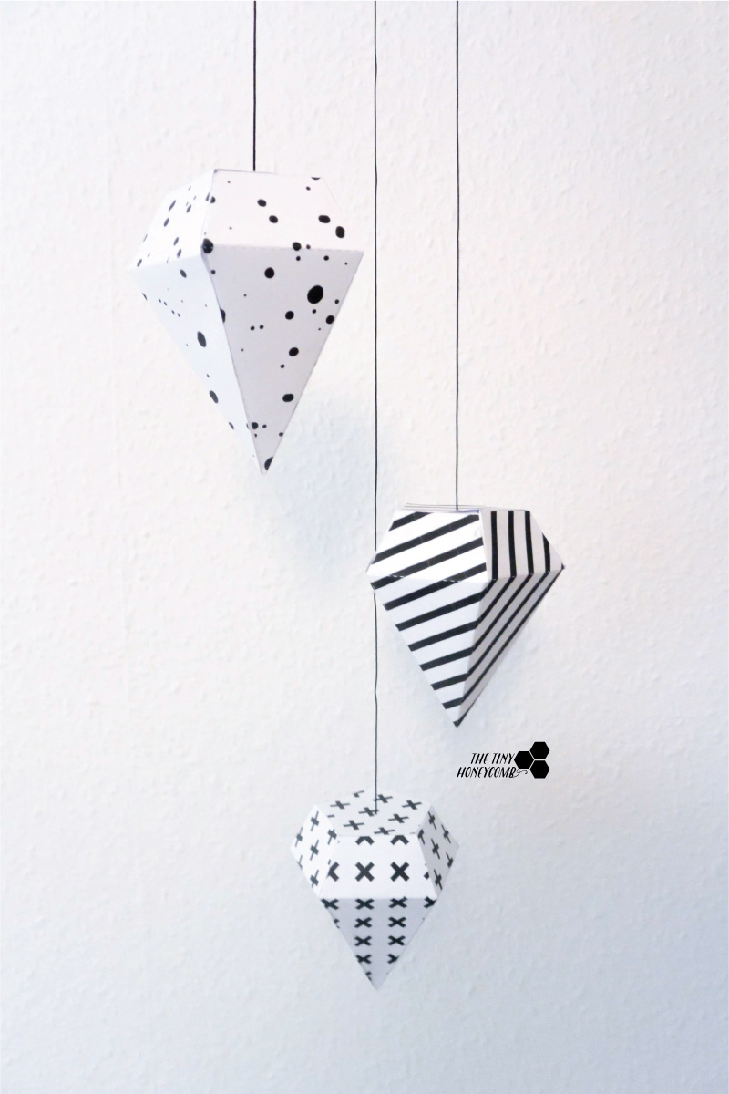 paper diy fitz decoration diamond lola template geopaperdiamonds fs product