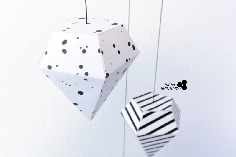 paper diamonds with free template