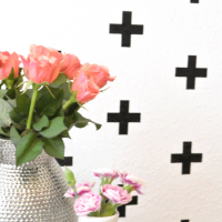 Swiss cross pattern - how to make a pattern on your wall using a silhouette cameo