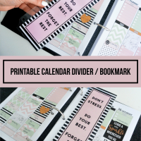 how to make your calendar divider - including a free printable