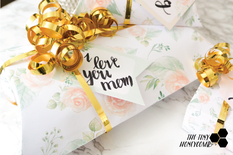 Mothers day gift box. Free printables