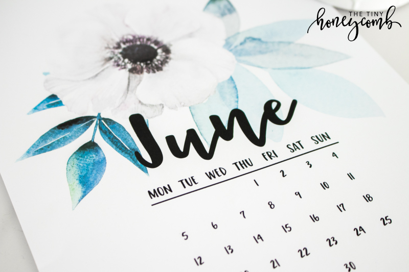 Make your own printable calendar. Diy calendar - step by step tutorial