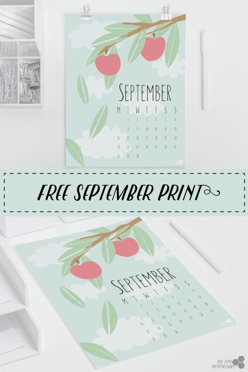 Free september calendar for print