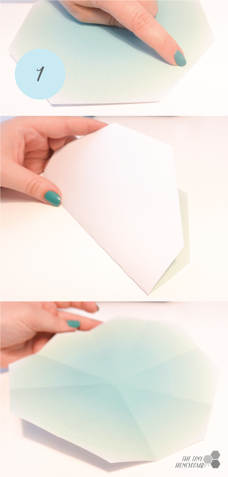 how to make paper diamonds 1