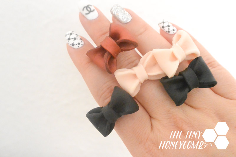 Diy   how to make a polymer clay bow ring