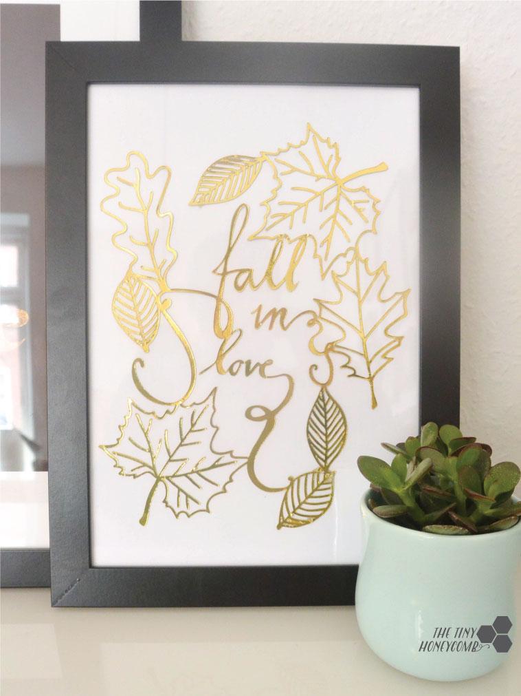 fall in love gold, free cut file.