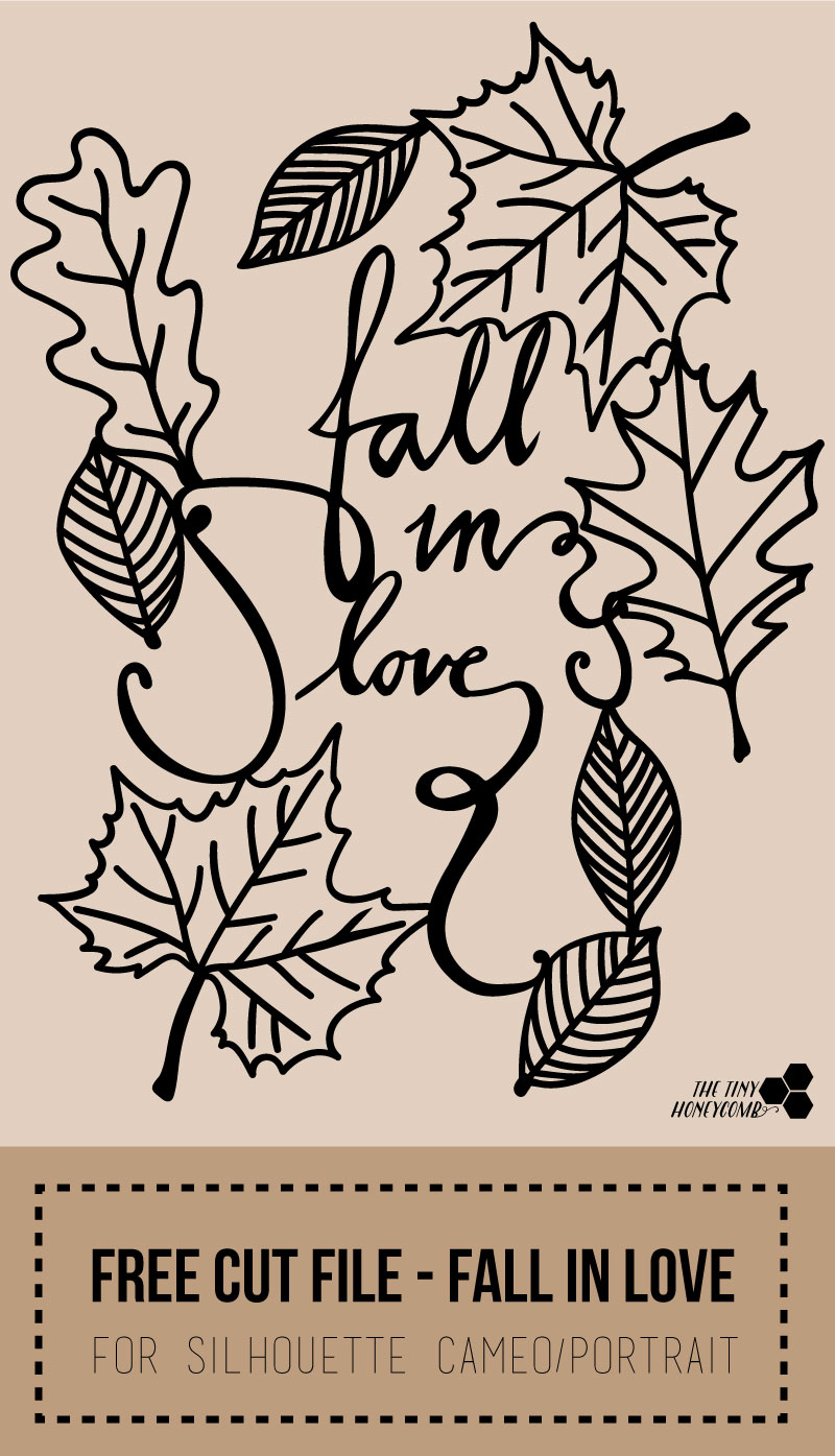 free cut file for the silhouette, fall in love
