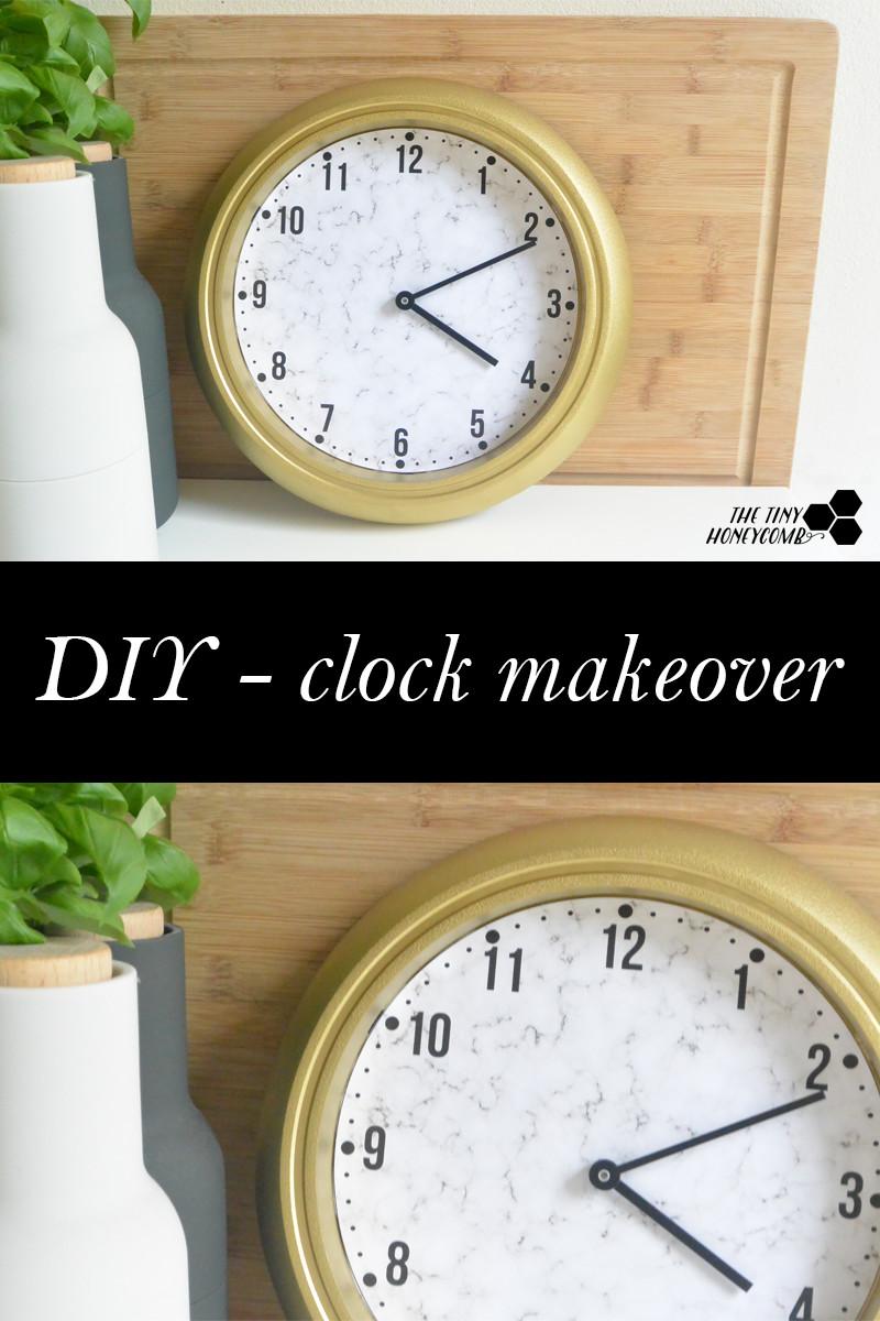 DIY clock makeover. DIY Clock Tutorial. The tiny honeycomb blog