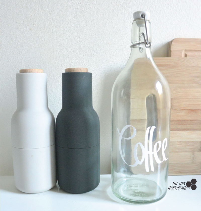 How to cold brew coffee and make a bottle for it to store the coffee in. The tiny honeycomb blog