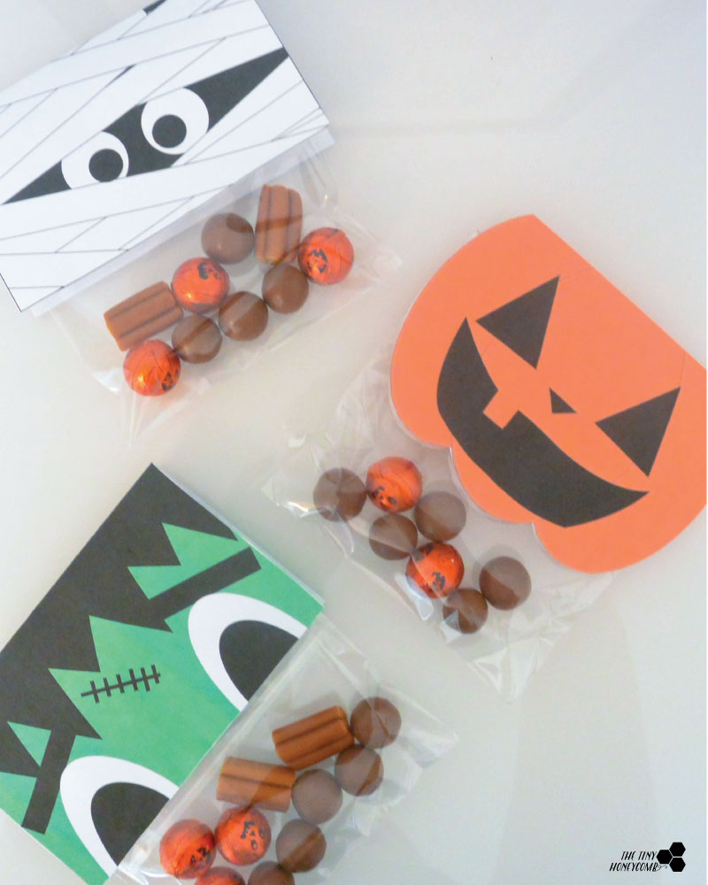 Free halloween printables. Candy Wrappers. The tiny honeycomb blog