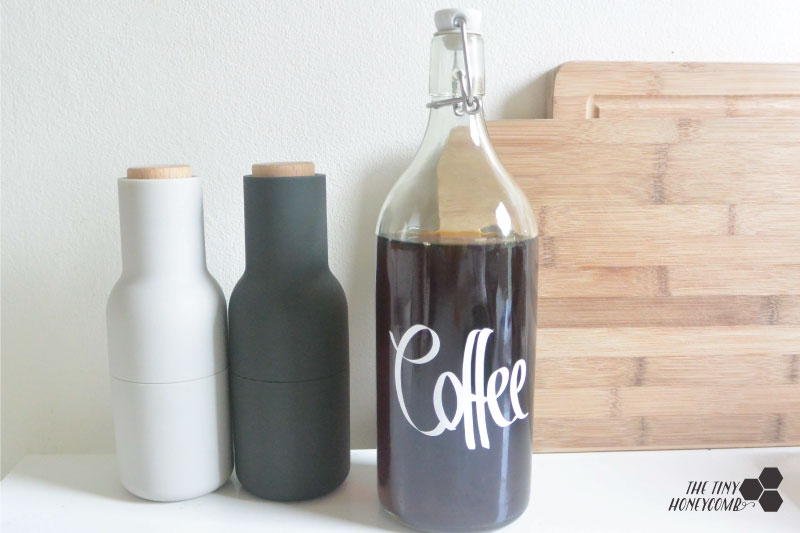 Making cold brewed coffee how to. The tiny honeycomb blog