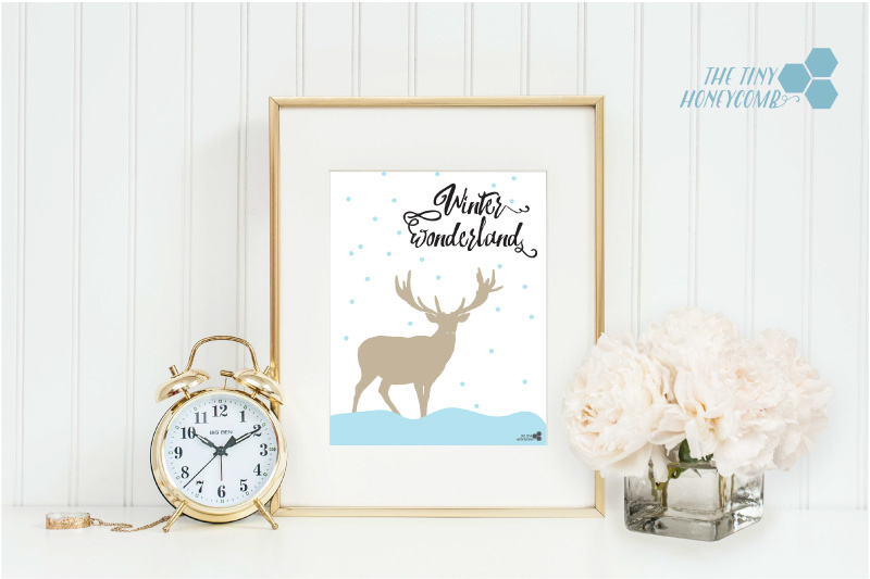 Free winter wonderland printable and cut file for cutting machine