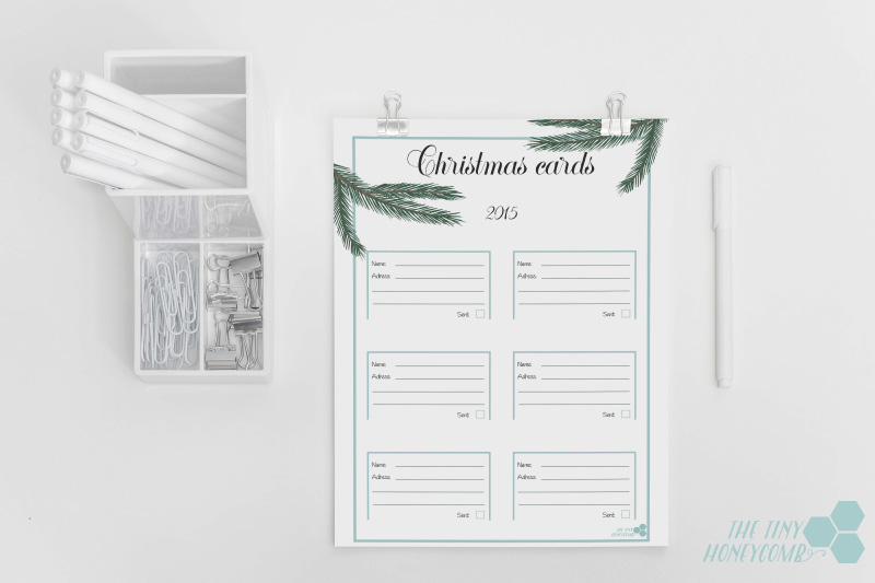 Christmas Planner 2015. Free printables - christmas cards template