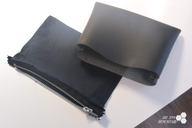 DIY faux leather bag step 5