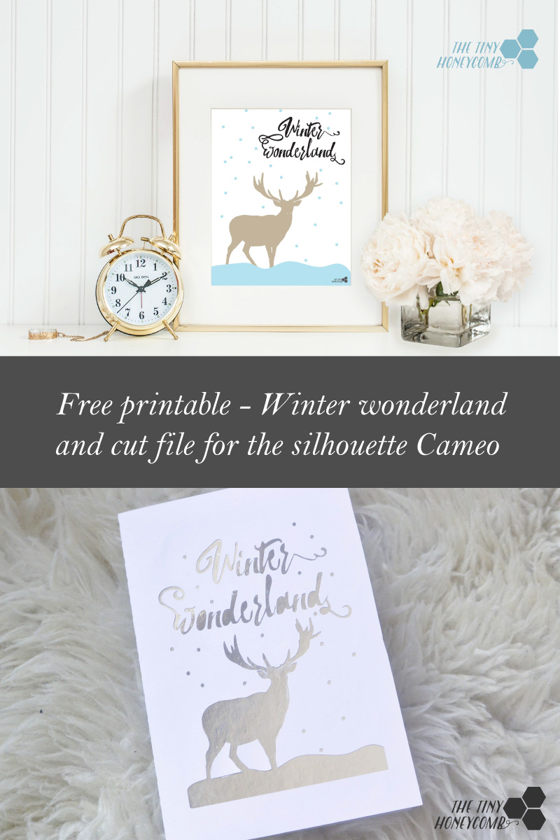 Winter Wonderland Printable and free cutting file for the silhouette Cameo cutting machine