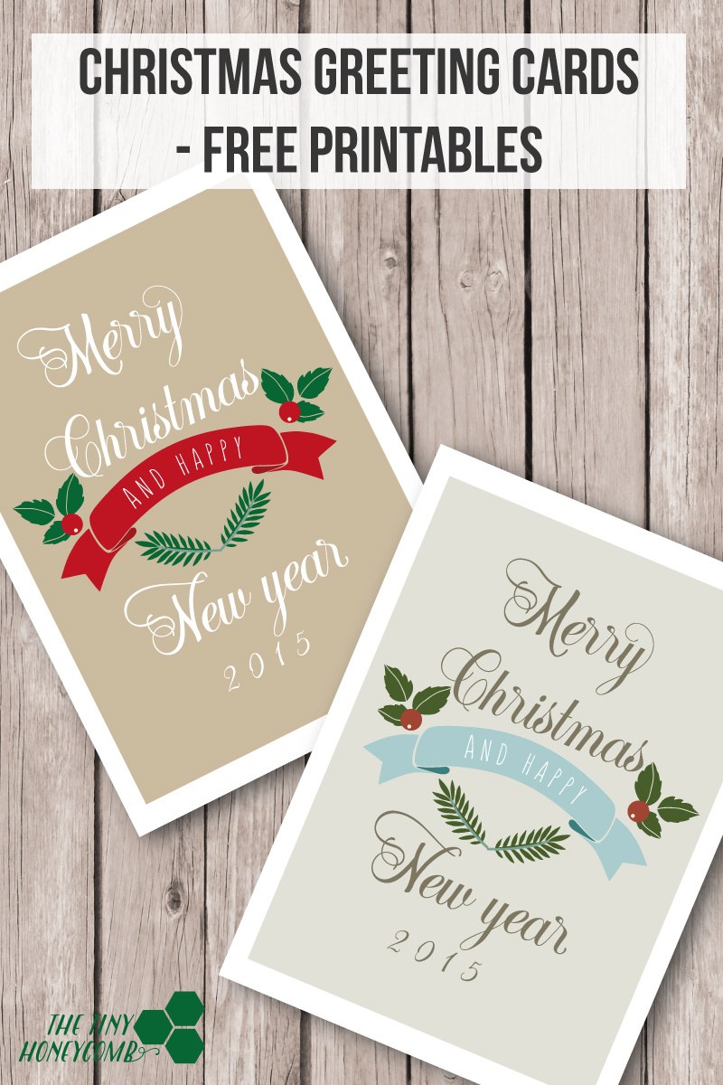 Cute Christmas Greeting cards. Free printables.
