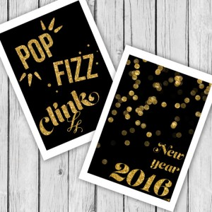 New years printables to decorate your home