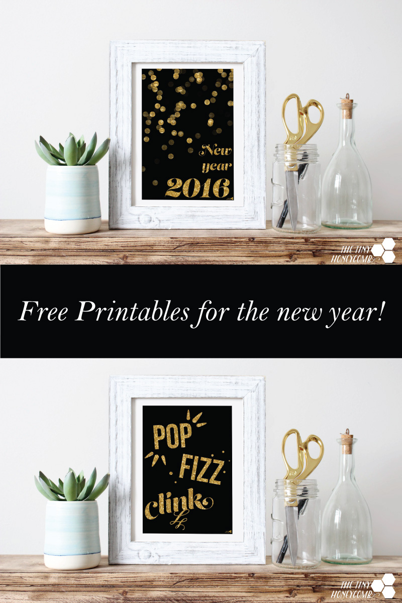 Free New years printables to decorate and celebrate the new year! perfect for New years eve