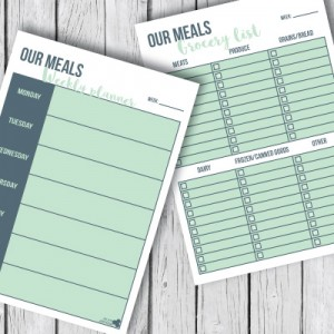 Printable meal planner - free