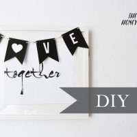 make your own love banner for valentine and you have yourself some easy and pretty decor for the holiday