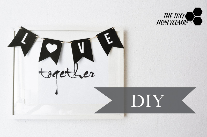 DIY Love banner for Valentine  Simple and cute + free