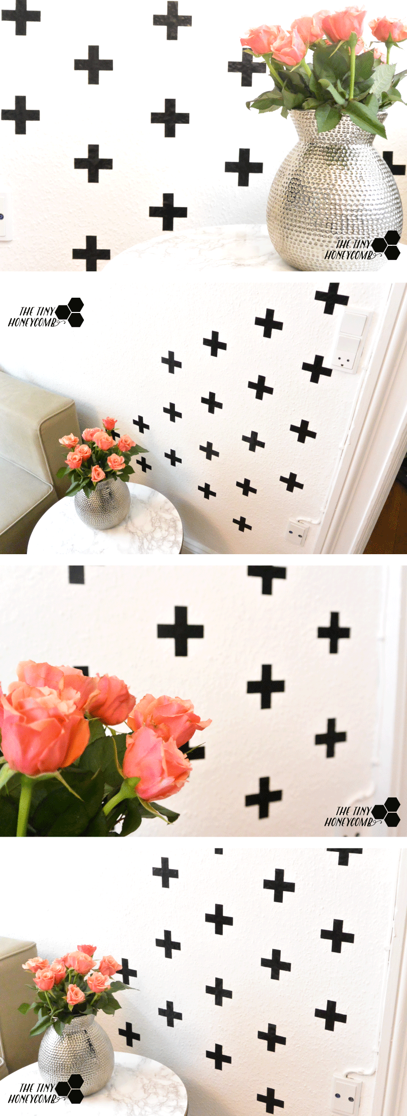 DIY Swiss cross pattern as wall decor - how to easily make an art piece on your wall using vinyl