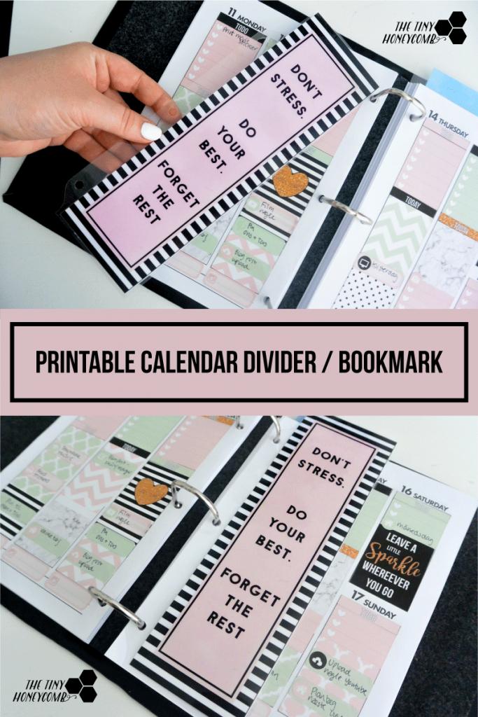 how to make your calendar divider - including a free printable