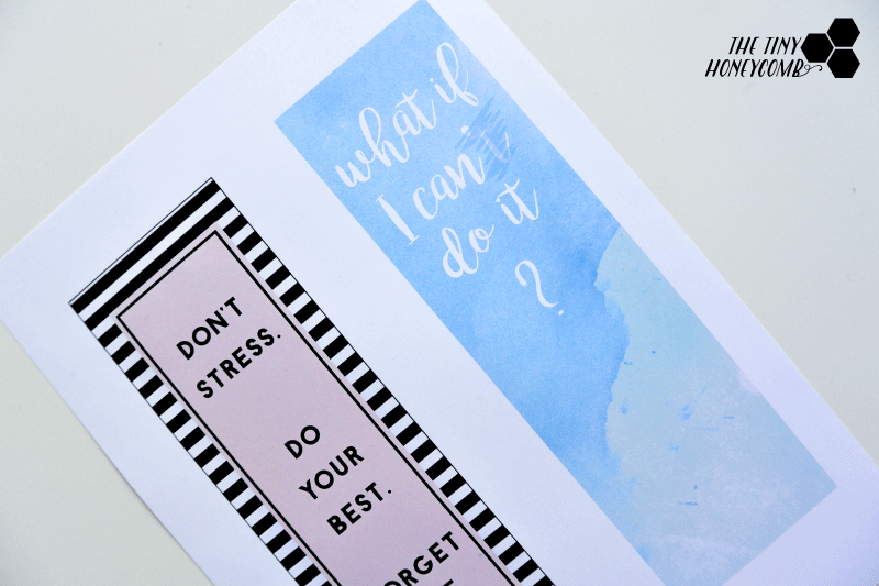 free printable for making your own calendar divider