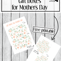 Free printable gift boxes for Mothers day. Easy to make DIY gift boxes with roses. Perfect for mothers day