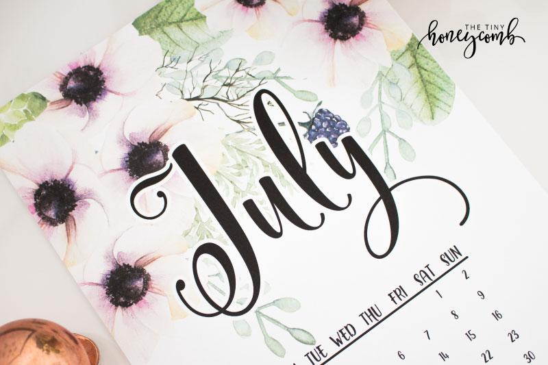July printable