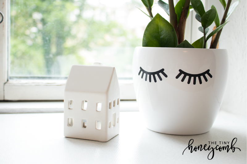 How to make a cute flower pot. Tutorial on how to make a plant pot with eyelashes